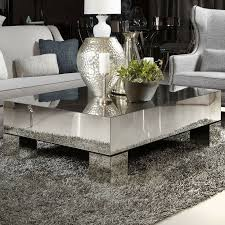 square mirrored coffee table