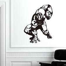 Lovehome American Football Wall Vinyl Decal Sport Super Bowl Sticker Home Removable Decor Walmart Com Walmart Com