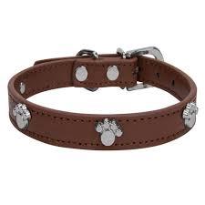 Cuecuepet Adjustable Dog Collar With Embellished Paw Bling Charms Multiple Sizes Walmart Com Walmart Com