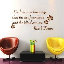 Kindness Is The Language Lettering Words Vinyl Wall Art Decal Mark Twain Famous Quotes Mural Home Decor Inspiration Wall Sticker Inspirational Wall Stickers Wall Stickervinyl Wall Art Decals Aliexpress