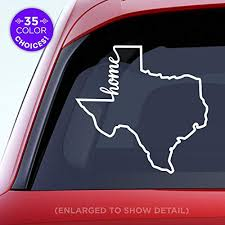 Amazon Com Texas State Home Decal Tx Home Car Vinyl Sticker Add A Heart Over Houston San Antonio Dallas Austin Fort Worth El Paso Waco Made With Outdoor Vinyl Handmade