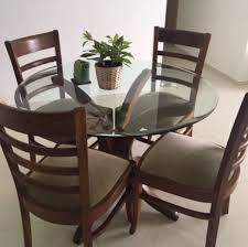 pure teak wood 4 seater dining table