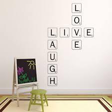 Live Laugh Love Wall Decal Scrabble Wall Art Customvinyldecor Com