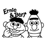 Kleurplaat Bert En Ernie Sesamstraat 309