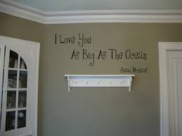 Love You As Big As Ocean Beautiful Wall Decals