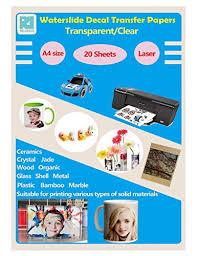 Ke Meng A4 Inkjet Waterslide Decal Papers Image Transfer Paper For Inkjet Printer Transparent 10 Sheets