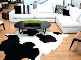 black and white genuine cowhide rug