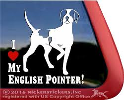 English Pointer Gun Dog Decals Stickers Nickerstickers