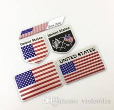 3d Alloy Metal Us Usa The United States American Flag Sticker Logo Car Auto Sport Badge Chrome Emblem Decals Car Styling Decal Auto Emblems For Sale Auto Grill Badges From Violet6liu 95 48