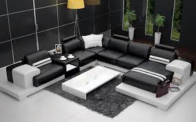 sofas nurburg black white leather sofa