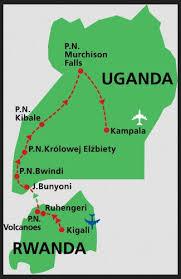 Znalezione obrazy dla zapytania: wycieczka do ugandy trasa