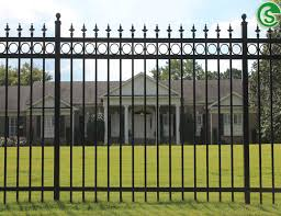 Security Primeter Fence Panels Galvanized Wrought Iron Ornamental Fencing For Sale Tubular Steel Fence Manufacturer From China 108203035