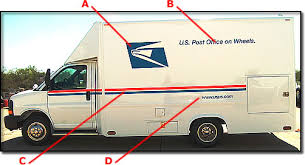 U S Post Office On Wheels Exterior Vehicle Decals