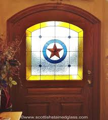 add a texas star to the stained glass