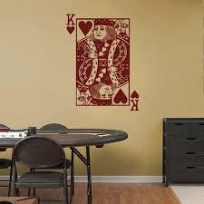 King Of Hearts Playing Card Poker Blackjack Vinyl Wall Sticker Etsy Vinyl Wall Stickers Vinyl Wall Hearts Playing Cards