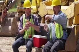 lunch cooler for construction workers