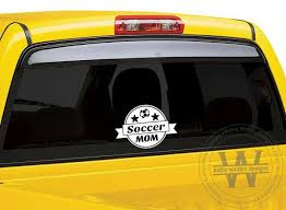 Vehicle Decal Soccer Mom Dad Etsy Car Decals Unique Decals Football Decal