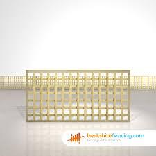 Rectangle Planed Square Trellis Fence Panels 3ft X 6ft Natural Berkshire Fencing