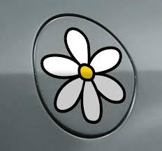 Daisy Car Sticker Tenstickers