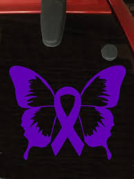 Amazon Com Purple Awareness Ribbon Butterfly Window Decal Epilepsy Lupus Cystic Fibrosis Rett Syndrome Craniosynostosis Fibromyalgia Active Everything Else