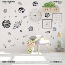 Magicalhour Outer Space World Wall Sticker Universe Planet Decor Vinyl Art Decal Kids Room Shopee Malaysia