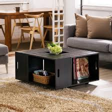 small coffee table with storage dark