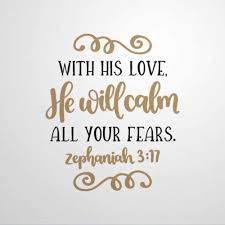 Amazon Com With His Love He Will Calm Zephaniah 3 17 Wall Decals Bible Verse Vinyl Sticker Inspirational Scripture Wall Art Home Decor Prayer Church Jesus Lv8j46e7vjw0 Home Improvement