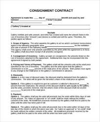 consignment contract forms in pdf