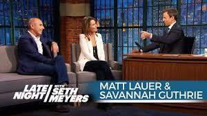 Matt Lauer and Savannah Guthrie on ...