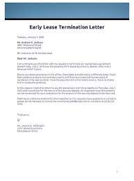 early lease termination letter pdf