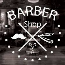 Barber Shop Sign Barbershop Window Sign Window Vinyl Sign Sticker Decal Wish