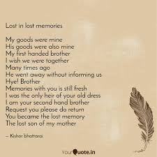 lost in lost memories my quotes writings by kishor