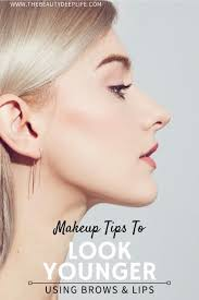 makeup tips to look younger using brows