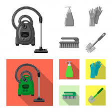 carpet cleaning logo stock vectors