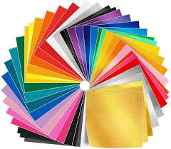 Amazon Com Adhesive Vinyl Sheets 50 Pack 12 X 12 Premium Permanent Self Adhesive Vinyl Sheets In 38 Assorted Colors For Craft Cutters Printers Letters Decals Arts Crafts Sewing