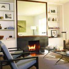 large mirror over fireplace but would