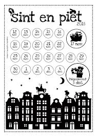 Gratis Download Aftelkalender Sint En Piet 2018 Aftellen