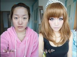 power of makeup before and after korean