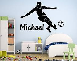 Soccer Wall Decal Etsy