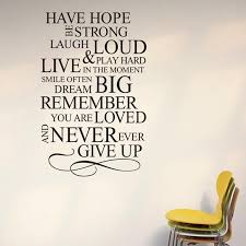 Never Ever Give Up Inspiring Sayings Wall Stickers Vinyl Removable Diy Home Decor Living Room Inspiration Home Decor Olivia Decor Decor For Your Home And Office