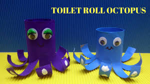 How to Make a Toilet Paper Roll Octopus - Toilet Paper Roll Crafts ...