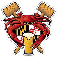 Maryland Crab Feast Crest Sticker Decal Die Cut Vinyl 4 5x4 5