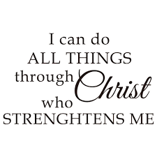 41 Off 2020 I Can Do All Things Through Christ Who Art Vinyl Mural Home Decor Wall Sticker In Black Dresslily