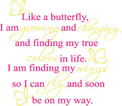 Like A Butterfly Wall Decals Trading Phrases