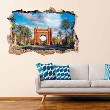 Wall Decal Landscape The Triumphal Arch Of Barcelona Wall Decals Wall Decal Cities And Travels Countries And Travels Ambiance Sticker