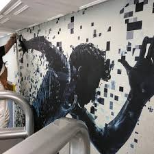 shields wallpaper mural installations