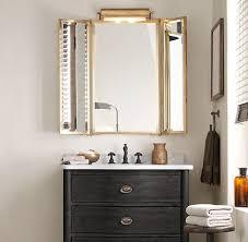 tri fold lit wall mirror restoration