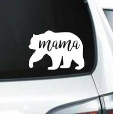 H164 Mama Bear Family Wildlife Bears Outdoors Big Bear White Decal Car Truck Ebay