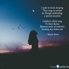 best chirping quotes status shayari poetry thoughts yourquote