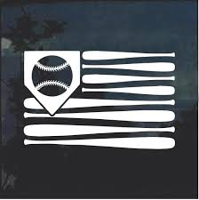 Baseball Bat American Flag Window Decal Sticker Baseball Bat Flag Decals Stickers Baseball T Shirt Designs
